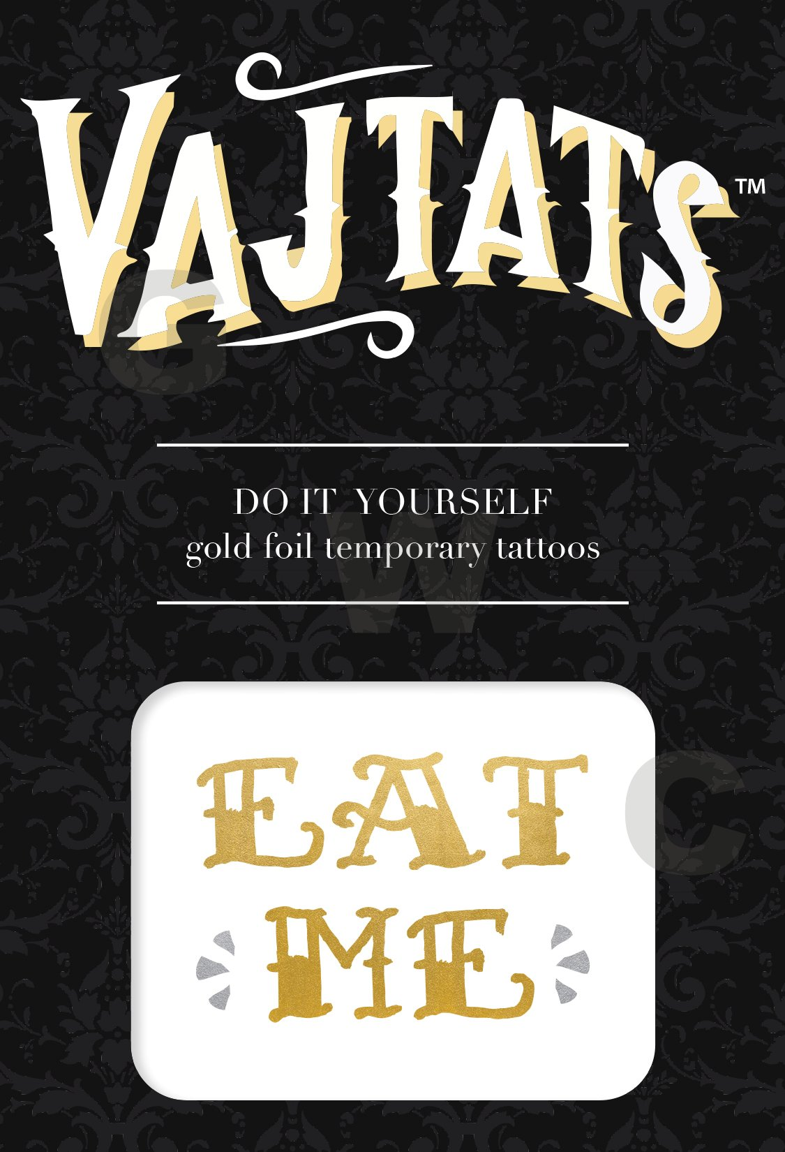 Gold Foil Tattoo Eat Me