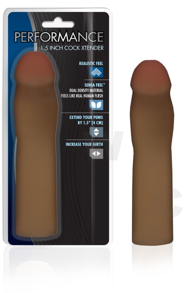 1.5 Inch Cock Xtender Brown
