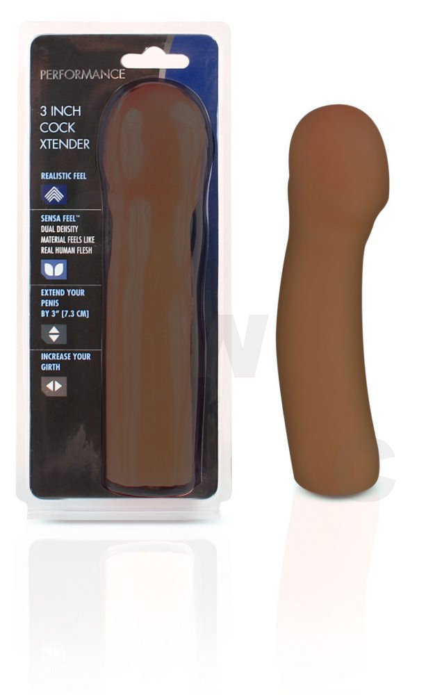 3 Inch Cock Xtender Brown