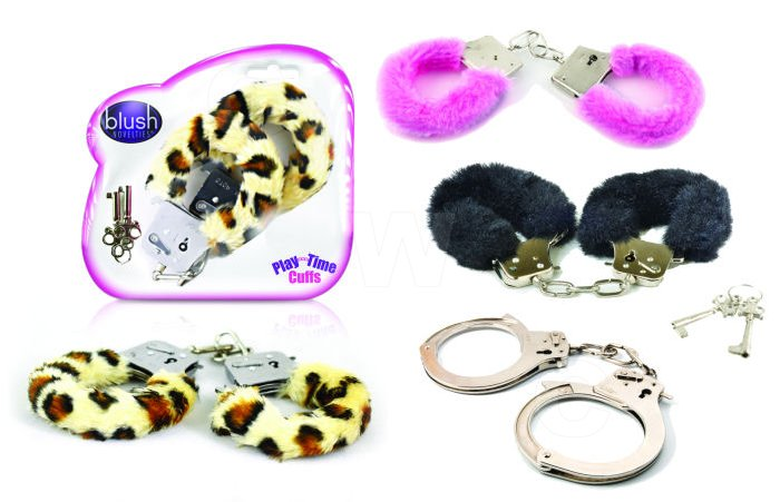 Playtime Cuffs Leopard Print Fur - By Blush